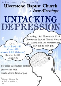 Unpacking Depression Seminar Flyer
